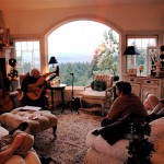 harp guitar retreat group lesson in living room with john doan