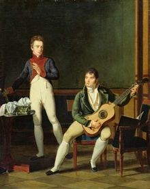 72.Musician and his Family, French oil painting (Bibliothque Marmottan, Boulogne-Billancourt, Paris copy