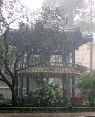 96. Park Pagoda in Rain 5 minutes later