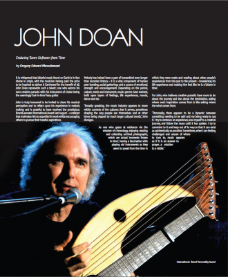 John Doan featured in article on The Brandlaureate International Brand Personality Award 2014 in Brand Laureate Magazine April-May 2015 edition.